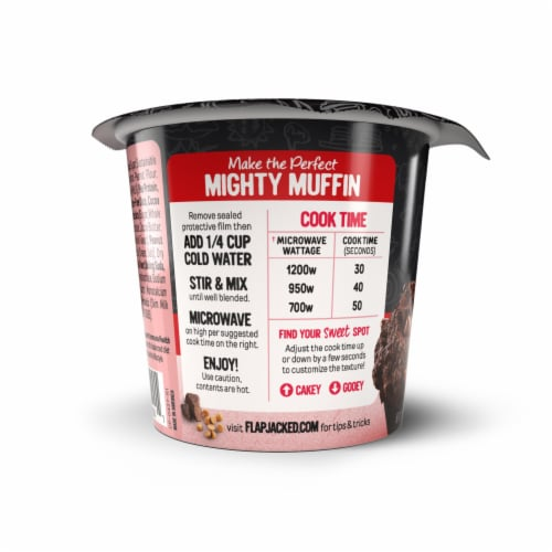 FlapJacked Chocolate Peanut Butter Mighty Muffin Perspective: right