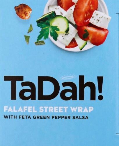 TaDah! Feta Salsa Falafel Wrap Perspective: right