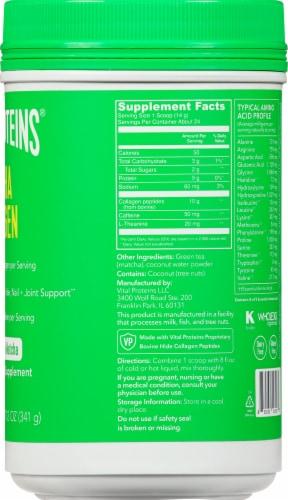 Vital Proteins Original Matcha Collagen Powder Perspective: right
