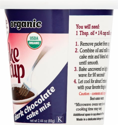 Namaste Foods Organic Cake Cup Dark Chocolate Cake Mix Perspective: right