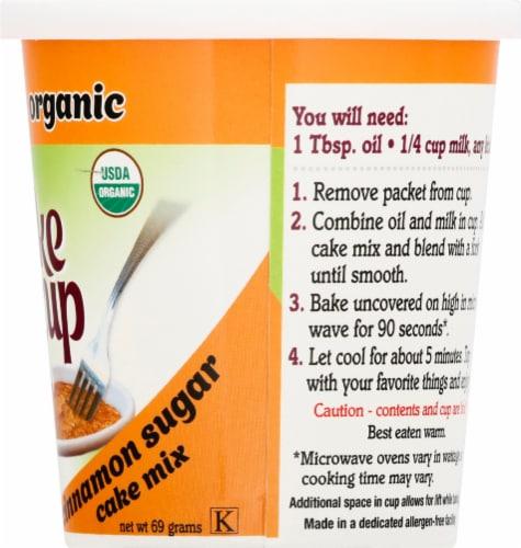 Namaste Foods Organic Cake Cup Cinnamon Sugar Cake Mix Perspective: right