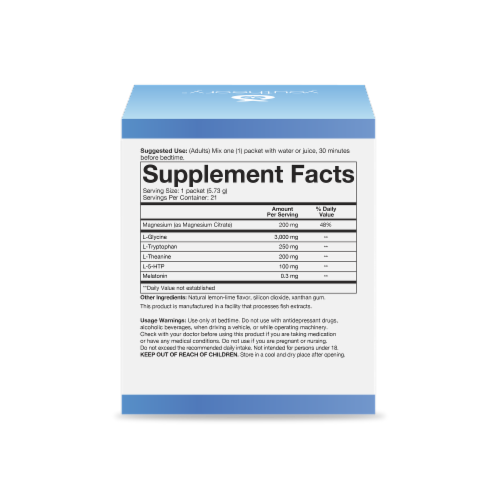 Youtheory Sleep Nighttime Powder Packets Perspective: right