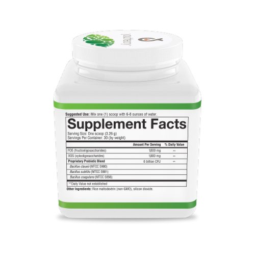 Youtheory® Spore Probiotic Plus Prebiotic Powder Perspective: right