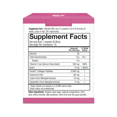Youtheory® Beauty Instant Mix Dietary Supplement Powder Packets Perspective: right