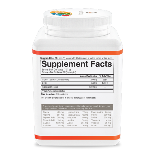 Youtheory® Unflavored Collagen Powder Dietary Supplement Perspective: right