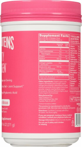 Vital Proteins Beauty Collagen Tropical Hibiscus Dietary Supplement Perspective: right