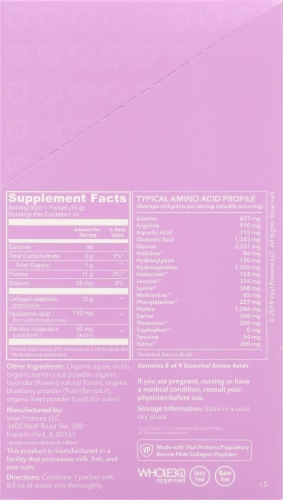 Vital Proteins Beauty Collagen Lavender Lemon Packets Perspective: right