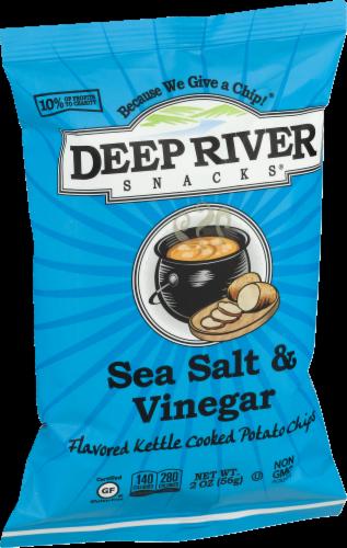 Deep River Snacks Sea Salt & Vinegar Kettle Cooked Potato Chips Perspective: right