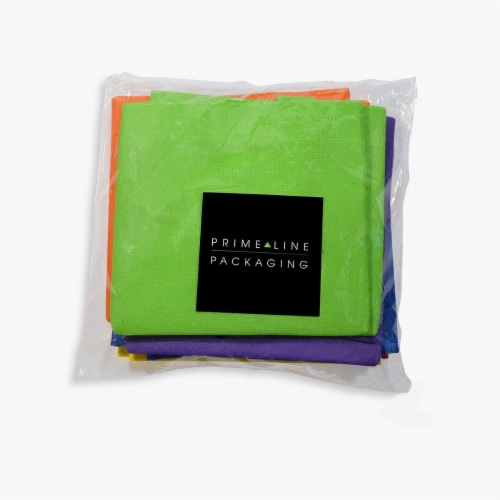 6x6 Inch Flat Reusable Gift Bags with Handles, Eco Friendly Totes, Fabric Goodie Bags Perspective: right