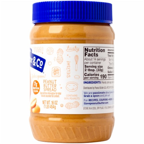 Peanut Butter & Co. Smooth Operator Creamy Peanut Butter Perspective: right