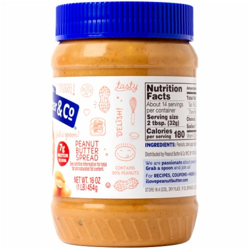 Peanut Butter & Co. Crunch Time Crunchy Peanut Butter Perspective: right