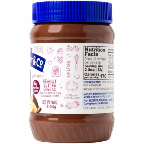 Peanut Butter & Co. Dark Chocolatey Dreams Peanut Butter Spread Perspective: right