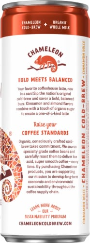 Chameleon Organic Cinnamon Dolce Cold-Brew Latte Perspective: right