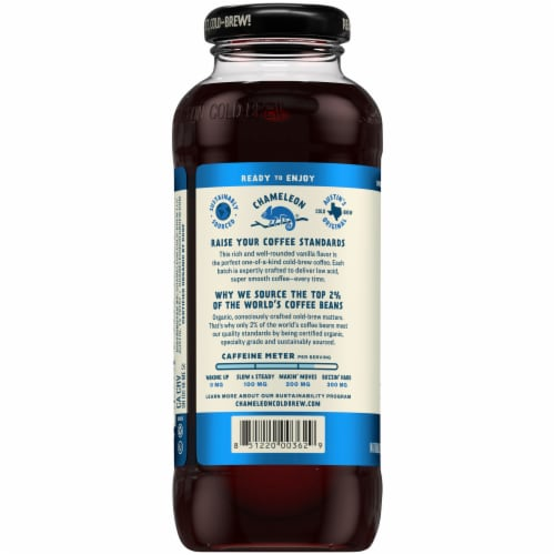 Chameleon Organic Cold Brew Lightly Sweetened Vanilla Coffee Perspective: right