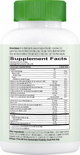 SmartyPants Kids Complete and Fiber Multivitamin Gummies Perspective: right