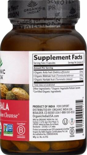 Organic India Triphala Vegetarian Capsules Perspective: right