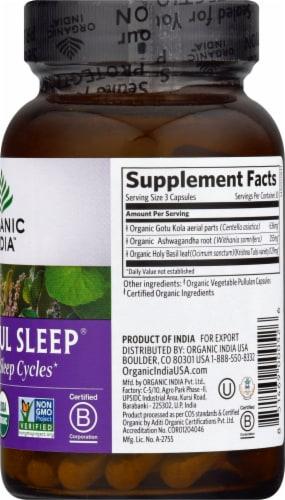 Organic India Peaceful Sleep Vegetarian Capsules Perspective: right