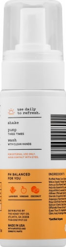 The Honey Pot Normal Plant-Based Foaming Feminine Wash Perspective: right