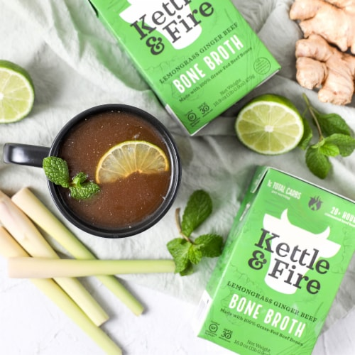 Kettle & Fire Lemongrass Ginger Beef Bone Broth Perspective: right