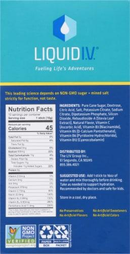 Liquid I.V. Hydration Multiplier Lemon Lime Electrolyte Drink Mix Sticks Perspective: right
