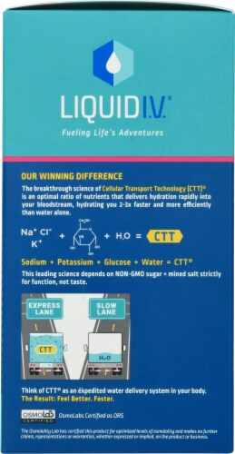 Liquid I.V. Hydration Multiplier Passion Fruit Electrolyte Drink Mix Sticks Perspective: right