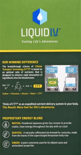 Liquid I.V. Energy Multiplier Lemon Ginger Sticks Perspective: right