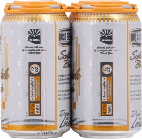 Huss Brewing Co. Scottsdale Blonde German Style Kolsch Perspective: right