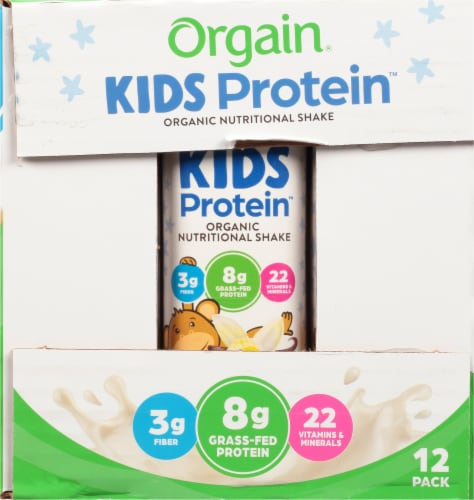 Orgain Kids Protein Organic Vanilla Nutritional Shakes Perspective: right