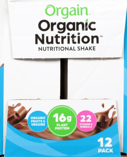 Orgain Organic Nutrition Vegan Smooth Chocolate All-In-One Nutritional Shake Perspective: right