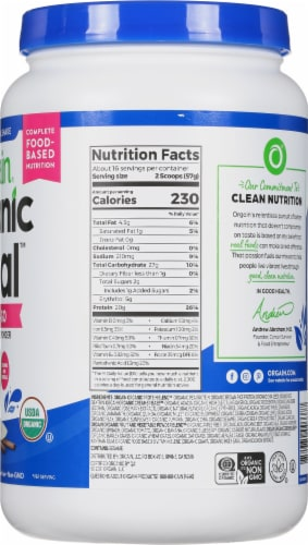 Orgain  Organic Meal™ All-In-One Nutrition Powder   Vanilla Bean Perspective: right