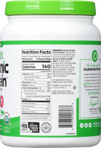 Orgain  Organic Protein™ Plant Based Powder   Natural Unsweetened Perspective: right