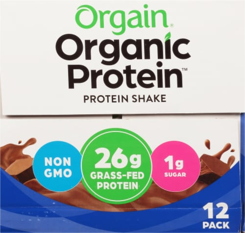 Orgain Organic Protein™ Nutritional Creamy Chocolate Protein Shake Perspective: right