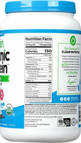 Orgain Organic Vanilla Bean Protein & Greens Plant Based Powder Perspective: right