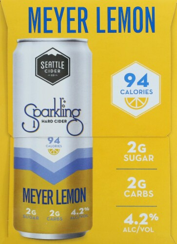 Seattle Cider Meyer Lemon Sparkling Hard Cider Perspective: right