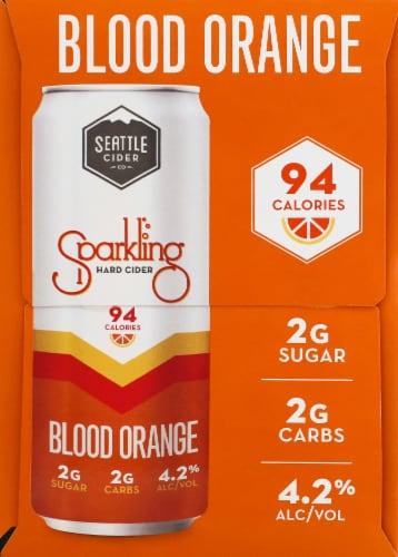 Seattle Cider Blood Orange Sparkling Hard Cider Perspective: right