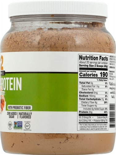 PB2 Performance Peanut with Dutch Cocoa Protein Powder Perspective: right