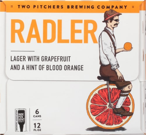 T.W. Pitchers' Brewing Co. Radler Lager Beer Perspective: right