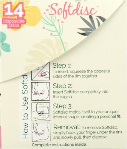 Softdisc Disposable Menstrual Discs Perspective: right