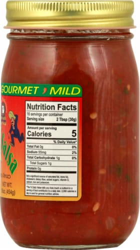 Crazy Charlie's Gourmet Mild Salsa Perspective: right
