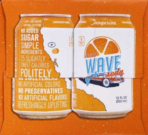Tangerine Wave Soda Perspective: right