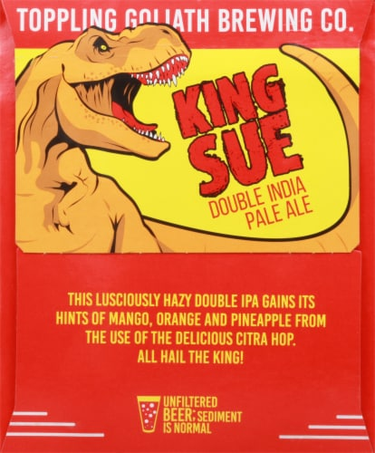 Toppling Goliath Brewing Co. King Sue Double India Pale Ale Beer Perspective: right