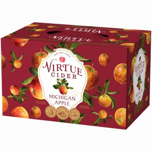 Virtue Cider Michigan Apple Semi-Dry Cider Perspective: right