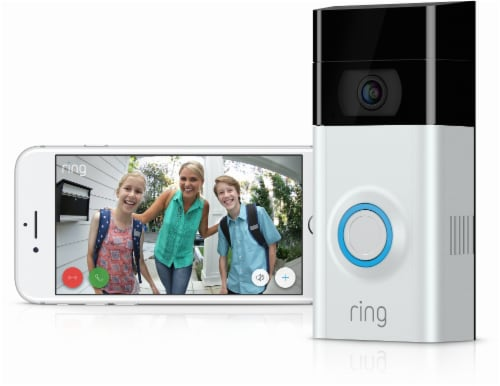 Ring™ Video Doorbell 2 - White/Black Perspective: right