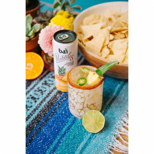 Bai Bubbles Peru Pineapple Sparkling Beverage Perspective: right