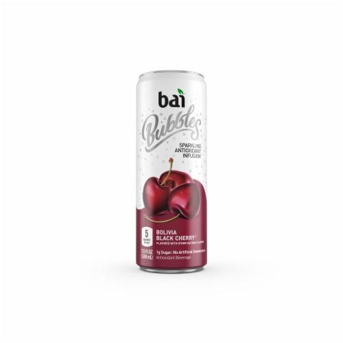 Bai Bubbles Bolivia Black Cherry Sparkling Beverage Perspective: right