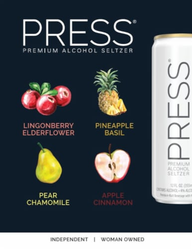 PRESS Premium Alcohol Seltzer Variety Pack Perspective: right
