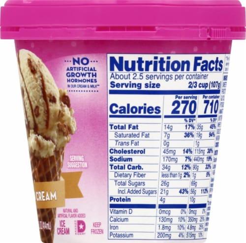 Baskin Robbins Pralines 'N Cream Ice Cream Perspective: right