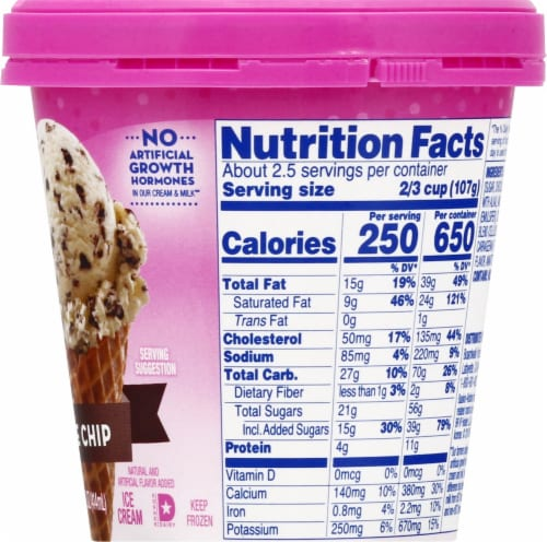 Baskin Robbins Chocolate Chip Ice Cream Perspective: right