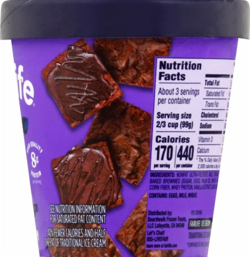 Fairlife Double Fudge Brownie Light Ice Cream Perspective: right