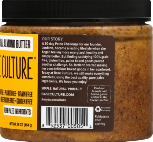 Base Culture Original Almond Butter Perspective: right